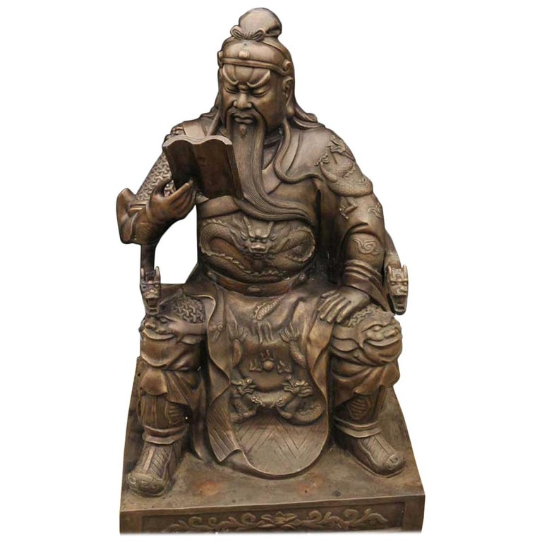 20th Century Bronze Sculpture of a Chinese Warrior For Sale