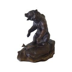 20th Century Bronze Sculpture of a Grizzly Bear by Clark Everice Bronson