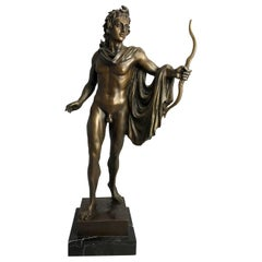 20th Century Bronze Statue of Apollo the Greek God of Archery