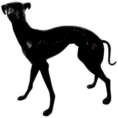 20th Century Bronze Whippet Sculpture