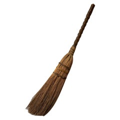 20th Century Broom with Wooden Handle
