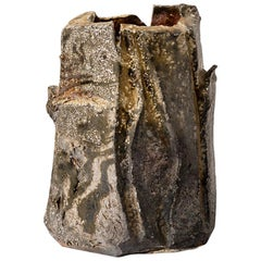 20th Century Brutalist Stoneware Ceramic Vase by Astoul in La Borne