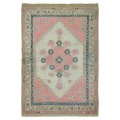 20th Century Bubble Pink Turkish Anatolian Thrown Rug