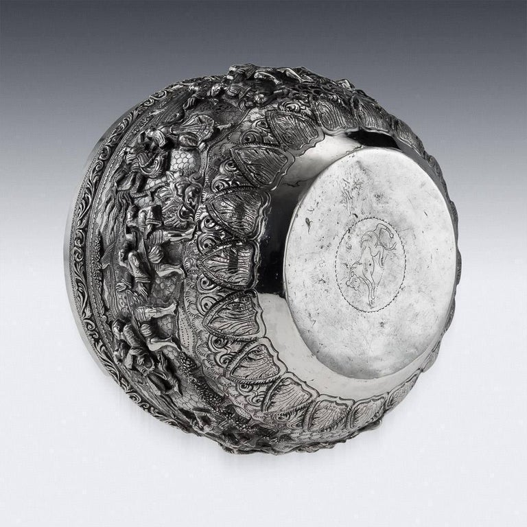 20th Century Burmese Solid Silver Thabeik Bowl, Rangoon, Tiger Mark, circa 1900 In Excellent Condition In London, London