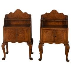 20th Century Burr Ash Bedside Tables