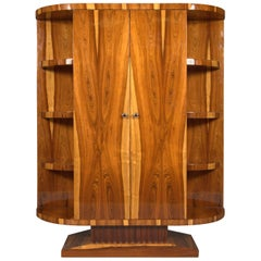 20th Century, Cabinet in Art Deco Style, Light and Dark Rosewood Veneer