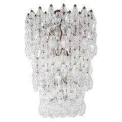 20th Century Carlo Scarpa Venini Chandelier Collection Poliedri in Murano Glass