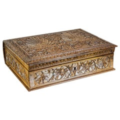 20th Century Carved Indonesian Coffret