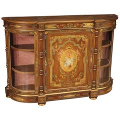 20th Century Carved, Lacquered, Gilded, Hand Painted Wood French Sideboard, 1960