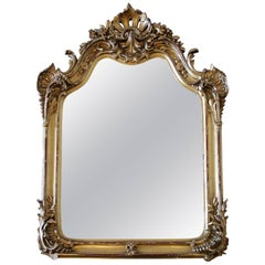 20th Century Carved Louis XV Style Giltwood Mirror