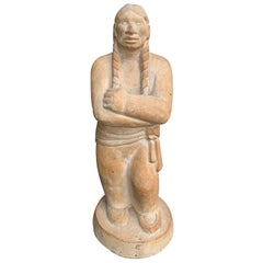 20th Century Carved Native American Figure