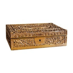 20th Century Carved Wooden Coffret
