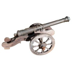 20th Century Cast Iron Cannon Reproduction from Spain