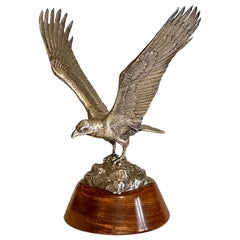 20th Century Cast Silver Model of an Eagle