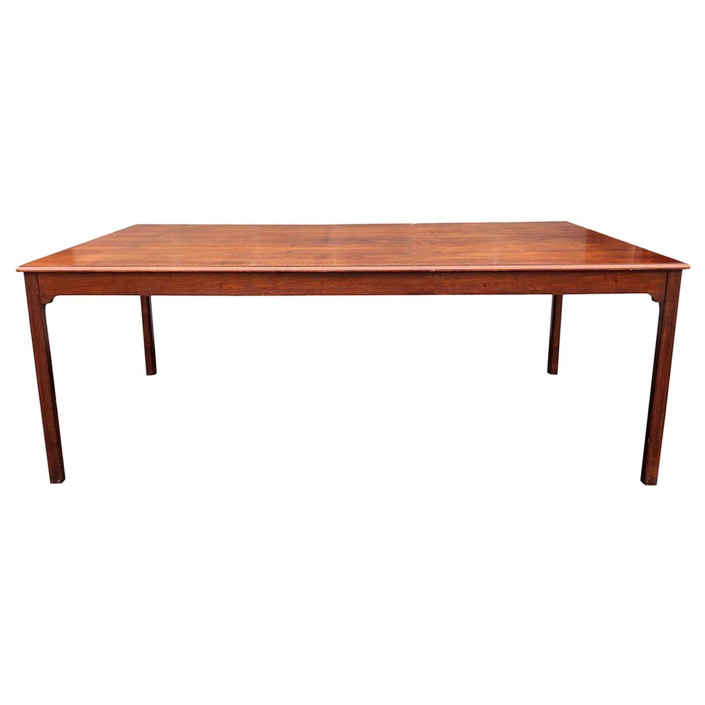 20th Century Center Table, Danish Cuban Mahogany Dining Table by Kaare Klint