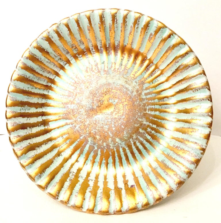 20th Century Ceramic and 22-Karat Gold Serving Pieces by Stangl, Set of 2 For Sale 5