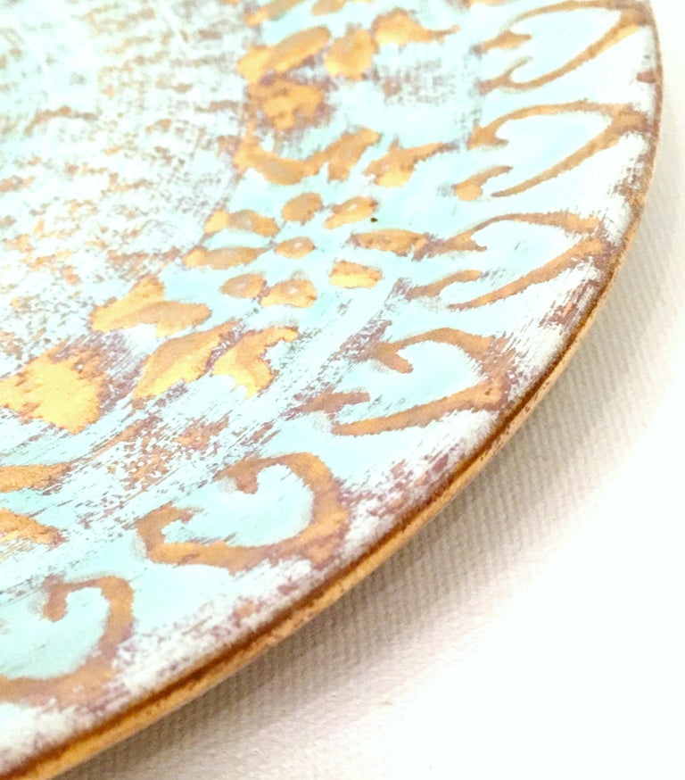 Hand-Painted 20th Century Ceramic and 22-Karat Gold Serving Pieces by Stangl, Set of 2 For Sale