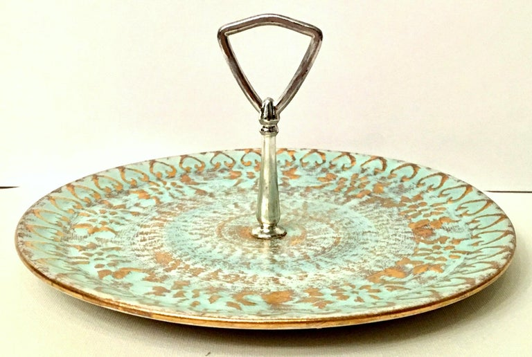 20th Century Ceramic and 22-Karat Gold Serving Pieces by Stangl, Set of 2 For Sale 2