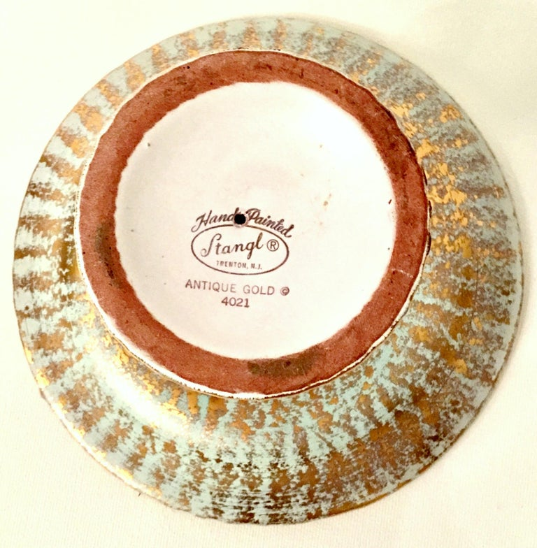 20th Century Ceramic and 22-Karat Gold Serving Pieces by Stangl, Set of 2 For Sale 4