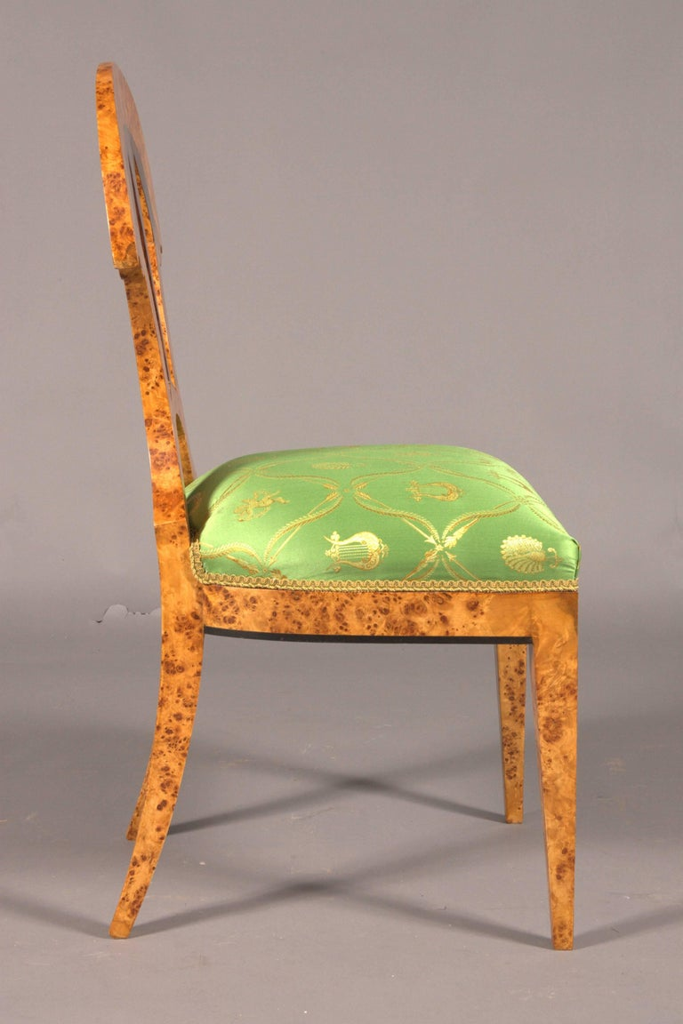 20th Century Chair in the Old Biedermeier Style Maple Root Veneer on Beechwood For Sale 2