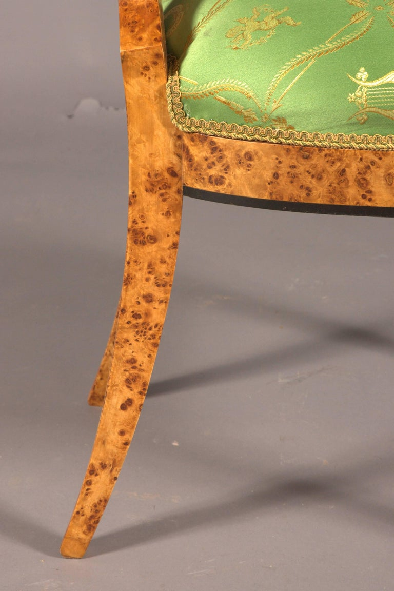 20th Century Chair in the Old Biedermeier Style Maple Root Veneer on Beechwood For Sale 3