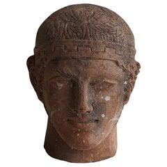 20th Century Charioteer of Delphi, Italian Terracotta Decor
