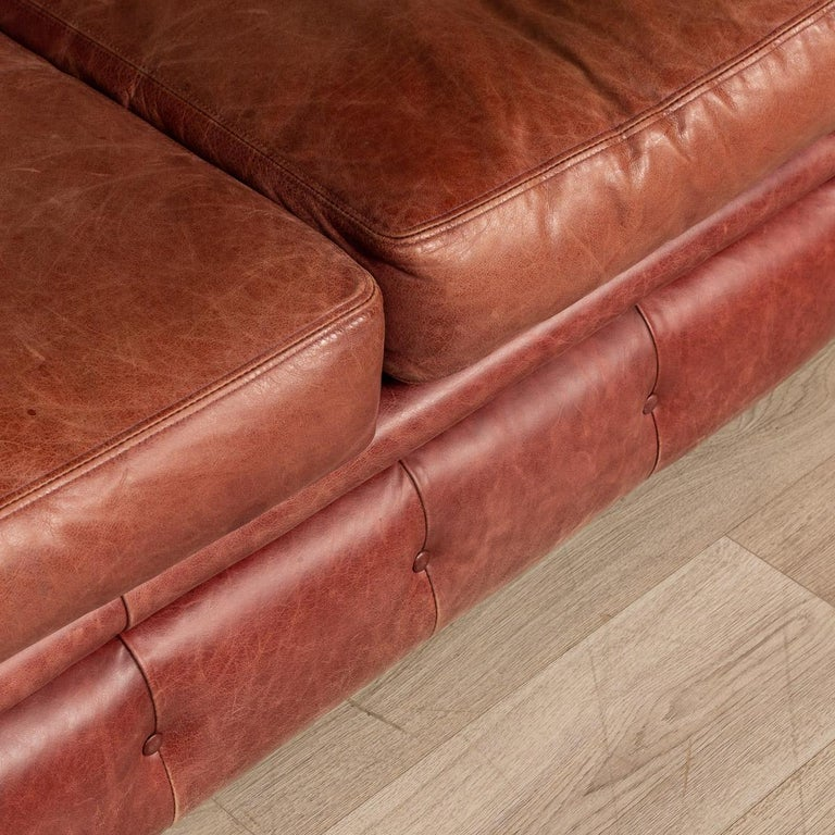 20th Century Chesterfield Leather Sofa With Button Down Seat For Sale 7