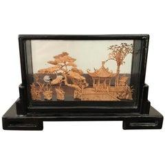 20th Century Chinese Cork Diorama, 1920s