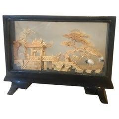 20th Century Chinese Cork Diorama, 1950s