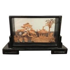 20th Century Chinese Cork Diorama