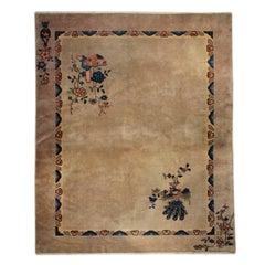 20th Century Chinese Deco Peacock Carpet