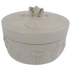 20th Century Chinese Round Ceramic Box