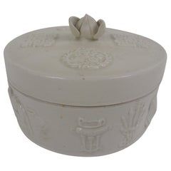 20th Century Chinese Round Ceramic Box
