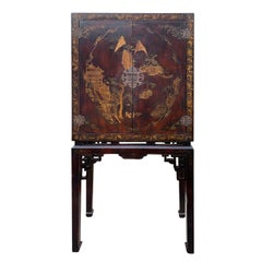 20th Century Chinoiserie Cabinet on Stand