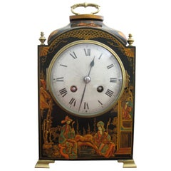 20th Century Chinoiserie Two Train Mantel Clock with French Movement