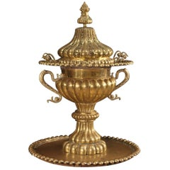 20th Century Chiselled Metal and Brass Turkish Censer, 1950