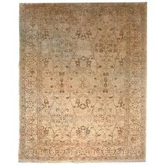 20th Century Chobi Wool Gold Rug