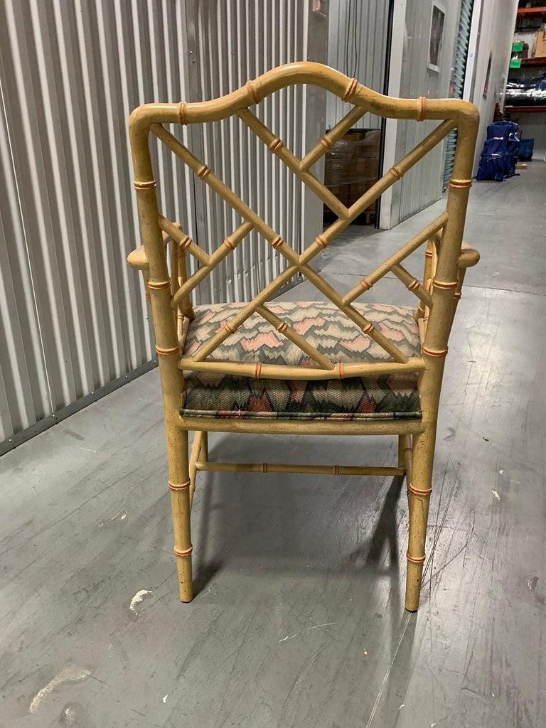 20th Century circa 1970s Italian Bamboo Fretwork Armchair For Sale 2