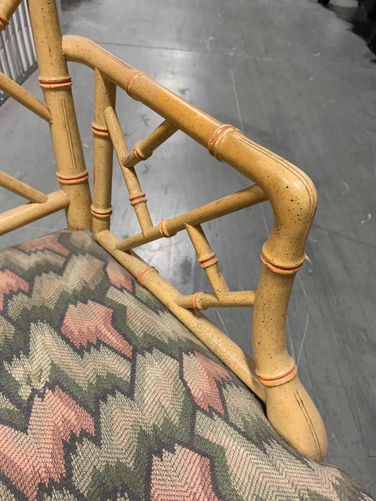 20th Century circa 1970s Italian Bamboo Fretwork Armchair For Sale 4
