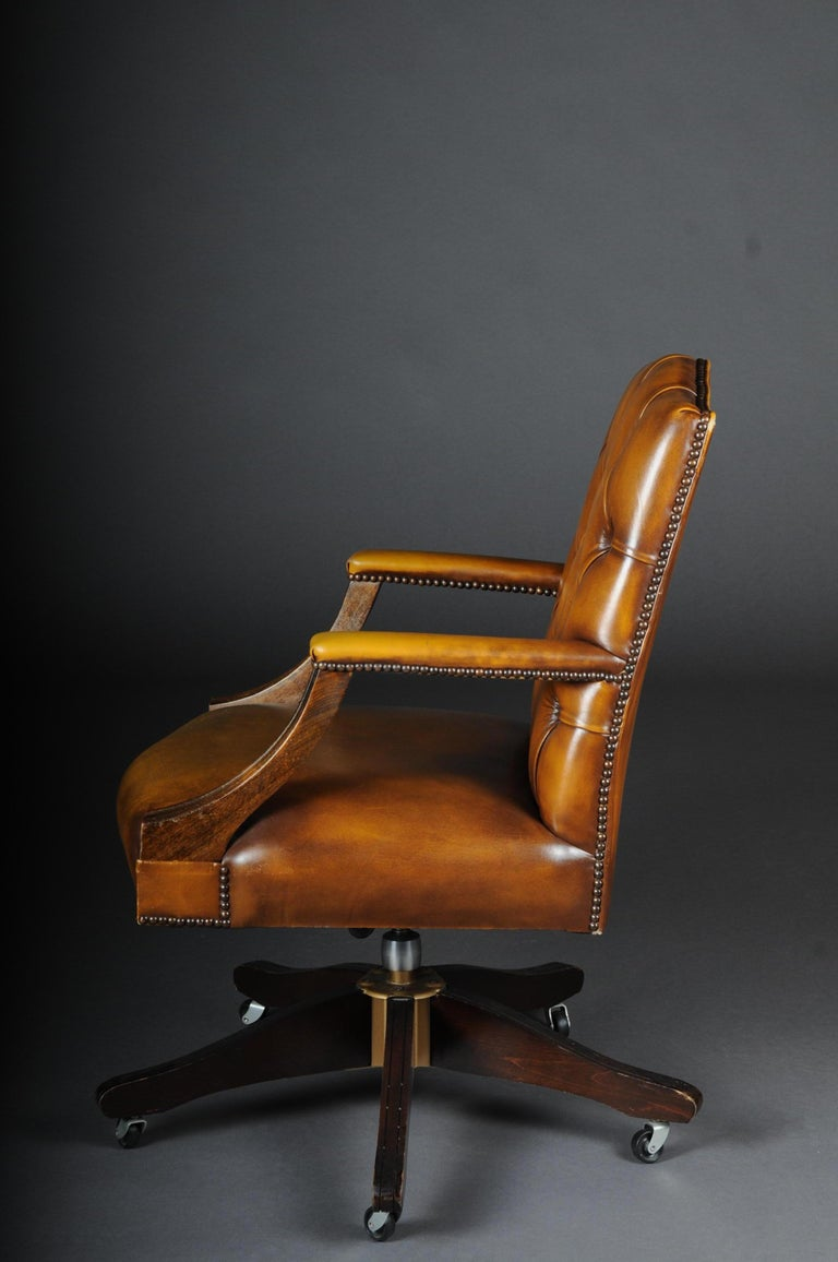 20th Century Classic English Armchair / Leather Armchair ...