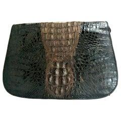 20th Century Classic Two-Tone Crocodile Hanbag By. K.C.H.