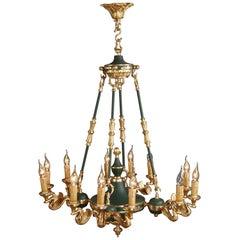 20th Century Classicist Empire Swan Ceiling Light