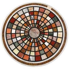 20th Century Classicist Style Pietra Dura Table Platter/Top