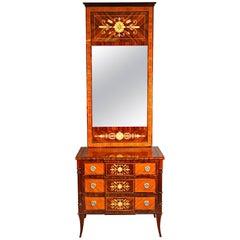 20th Century Classicist Style Tulip Mirror Commode