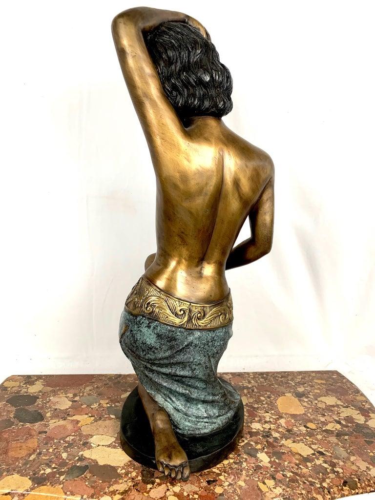 Art Deco 20th Century Cold Painted Bronze Sculpture For Sale