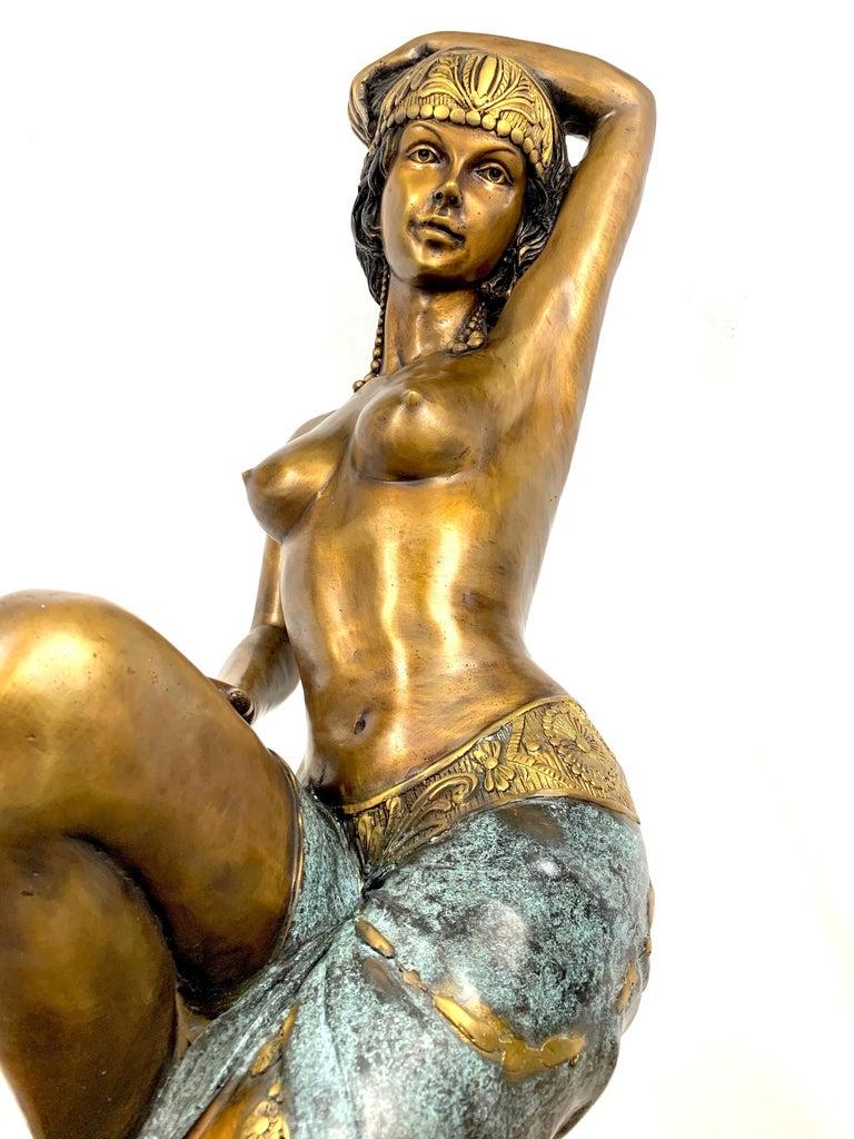 Cast 20th Century Cold Painted Bronze Sculpture For Sale