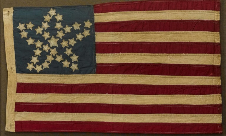 Cotton 20th Century Commemorative 34-Star American Flag with