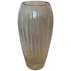 20th Century Contemporary Cut Crystal Vase