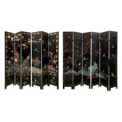 20th Century Coromandel Chinoiserie Six-Panel Screen