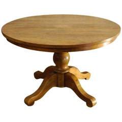 20th Century Country Style Round Dining Table